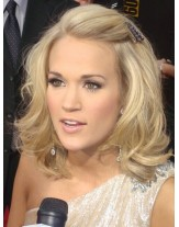 High Quality Carrie Underwood Hairstyle Glueless Full Lace Cap Human Hair Wigs About 14 Inches