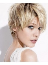 2014 New Arrival Charming Hairstyle Short Straight 100% Human Hair Wig About 8 Inches