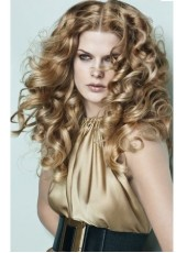 High Quality Charming Curly Blonde 100% Human Hair Wigs Full Lace About 24 Inches