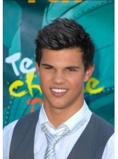 Custom Lautner Handsome Hairstyle Short Straight 100% Human Remy Hair Full Lace Wig About 6 Inches