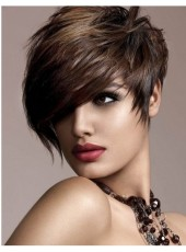 Captivating Top Quality 100% Human Remy Hair Short Straight Capless Wig About 8 Inches