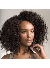 Charming And High Quality Chic Curly Hairstyle Human Hair Lace Front Wigs About 14 Inches