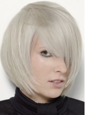 Top Quality Chic Straight 100% Human Hair Capless Wig About 12 Inches