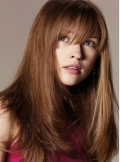 Amazing Soft Long Straight Hairstyle 100% Human Hair Capless Wig About 20 Inches