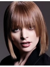 Very Chic Soft Hairstyle Human Hair  Capless Wig About 14 Inches