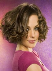 Charming Hairstyle Short Wavy 100% Human Hair Full Lace Wig About 12 Inches