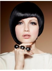 Charming Chic Hairstyle Medium 100% Human Hair Capless Wig About 10 Inches