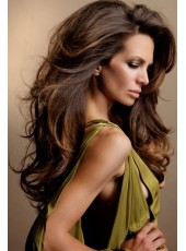High Quality 150% Density Graceful Long Light Wave 100% Human Hair Full Lace Wig About 20 Inches