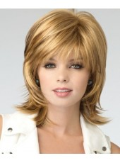 New Arrival Medium Shoulder Natural Brown Wave Synthetic Wigs About 14 Inches