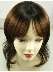 Europe And America Hairstyle Milddle Length Big Wavy Human Hair Wig About 20 Inches
