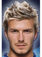 Custom Handsome Beckham Hairstyle Short Straight Venation Hairstyle Full Lace Human Hair Wig
