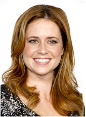 Swiss Lace Front Jenna Fischer Long Bright Brown Midsplit Natural Wave Prom Wigs