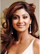 Shilpa Shetty Long Ombre Brown Red Deep Wave Hairstyle Lace Front 100% Human Hair Wigs