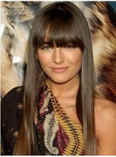 High Quality Attractive Celebrity Hair Style Light Brown Long Straight Capless About 24 Inches