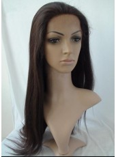 Charming Natural Hairstyle Long Straight 100% Human Hair Lace Front Wig About 22 Inches