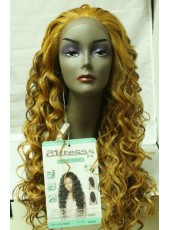 High Quality  Long Hair Curly Heat Resistant Lace Front Wig About 22 Inches