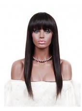 Silk Straight Peruvian Virgin Human Hair Capless  About 18 Inches