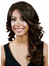 Top Quality Ombre Hair Long Wavy Synthetic Hair Lace Front Wig