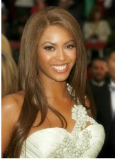 Beyonce Hairstyle Long Straight  Remy Human Hair Lace Front Wigs About 22 Inches