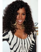 Kelly Rowland Kinky Curly Lace Front Wig 150% High Density Human Hair Wigs For Black Women