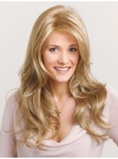 High Quality Light Brown Straight Wavy 100% Human Hair Lace Front Wigs