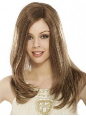 Top Quality 100% Human Hair Long Straight Lace Front Wigs About 22 Inches