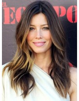 High Quality Celebrity Hairstyle Long Wavy Ombre Color  Lace Front Human Hair Wigs