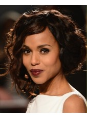 Charming Kerry Washington Wavy Hairstyle Lace Front Human Hair Wigs For Black Women