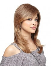 High Quality Natural Straight Lace Front Human Hair Wigs About 16 Inches