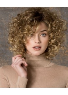 Amazing 130% Density High Quality Medium Ombre Curly 100% Human Hair Wigs