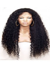 High Quality Long Curly Hairstyle Indian Human Hair Lace Front Wig About 22 Inches