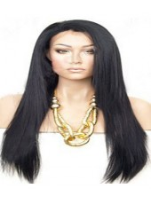 Long Soft Straight High Quality 100% Human Hair Lace Front Wig About 22 Inches
