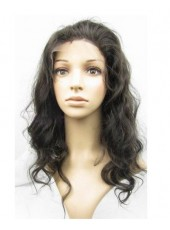 Beautiful High Quality  Loose Body Wave Indian Remy Human Hair Lace Front Wig About 22 Inches
