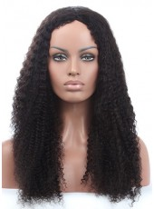 150% Density Top Quality  African American Human Hair Curly Hairstyle Swiss Lace Front  Wig About 24 Inches