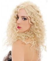 Charming  Long Curly Hairstyle Heat Resistant Lace Front Wig About 22 Inches