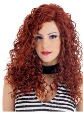 High Quality Chic Curly Hairstyle Heat Resistant Lace Front Wig About 22 Inches
