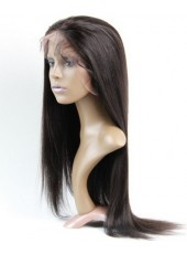 Elegante Loose Long Natural Straight  100% Human Hair Lace Front Wig About 24 Inches