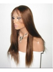Custom Super High Quality Long Straight 100% Human Hair Lace Front Wig About  24 Inches
