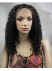 Charming Graceful Long  Hairstyle Small Curly  Lace Front Wig About 18 Inches