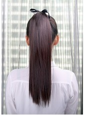 Soft Long Straight Lace Up Ponytail About  20 Inches