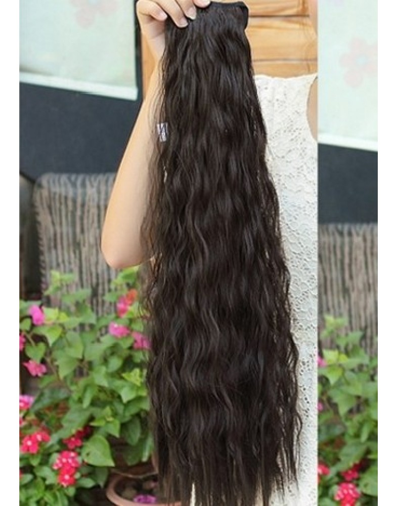 Amazing Long Curly Hair  Tip Up Ponytail About 22 Inches