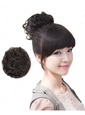 Beautiful Headdress Flower Hair Curls Wig Wraps