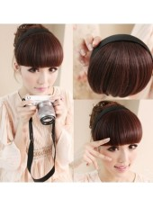 Charming High Quality Natural Neat Bang