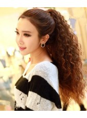 Korean New Arrival  Long Curly Clip In Ponytail About 20 Inches
