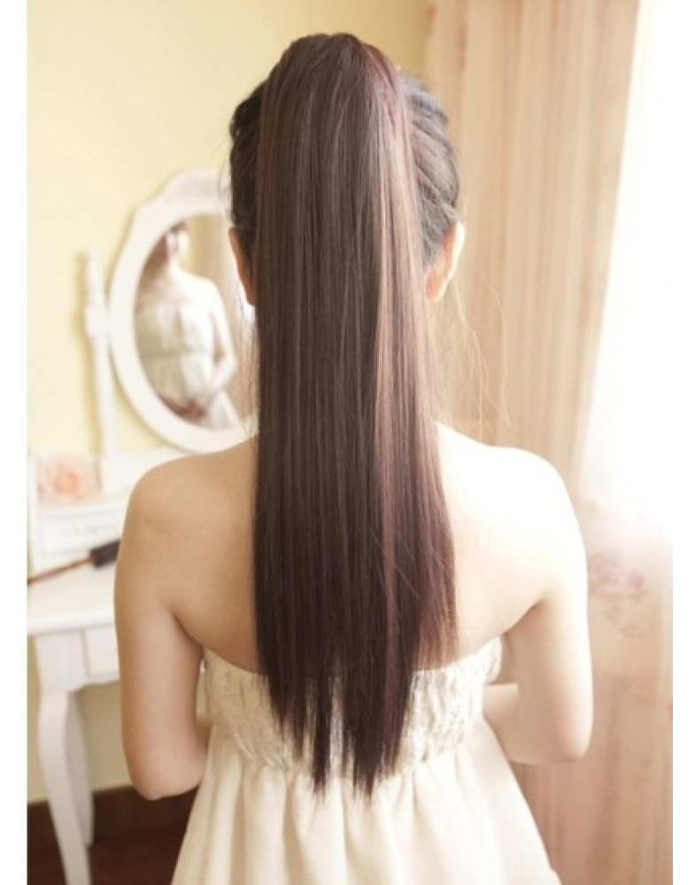 Charming & Lovey Long Straight Ponytail About 20 Inches