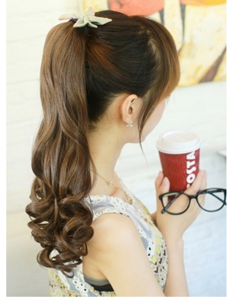 Partysu Natural Hairstyle Big Wavy Ponytail About 20 Inches