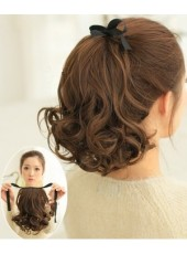 Beautiful Princess Short Volume Tie Up Ponytail About 16 Inches