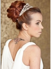 Elegant Bridemaid Hairstyle Updo Wig Wraps