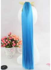 Heat Resistant Long Straight Lifelike Colorful Tie Up Ponytail About 22 Inches