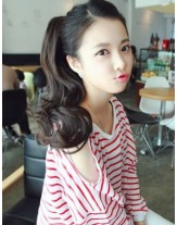 Lovely Hairstyle Big Wavy Tie Up Ponytail About 20 Inches